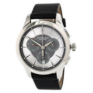 Victorinox-Swiss-Army-Men-039-s-Watch-Alliance-Chronograph-Black-Strap-241748