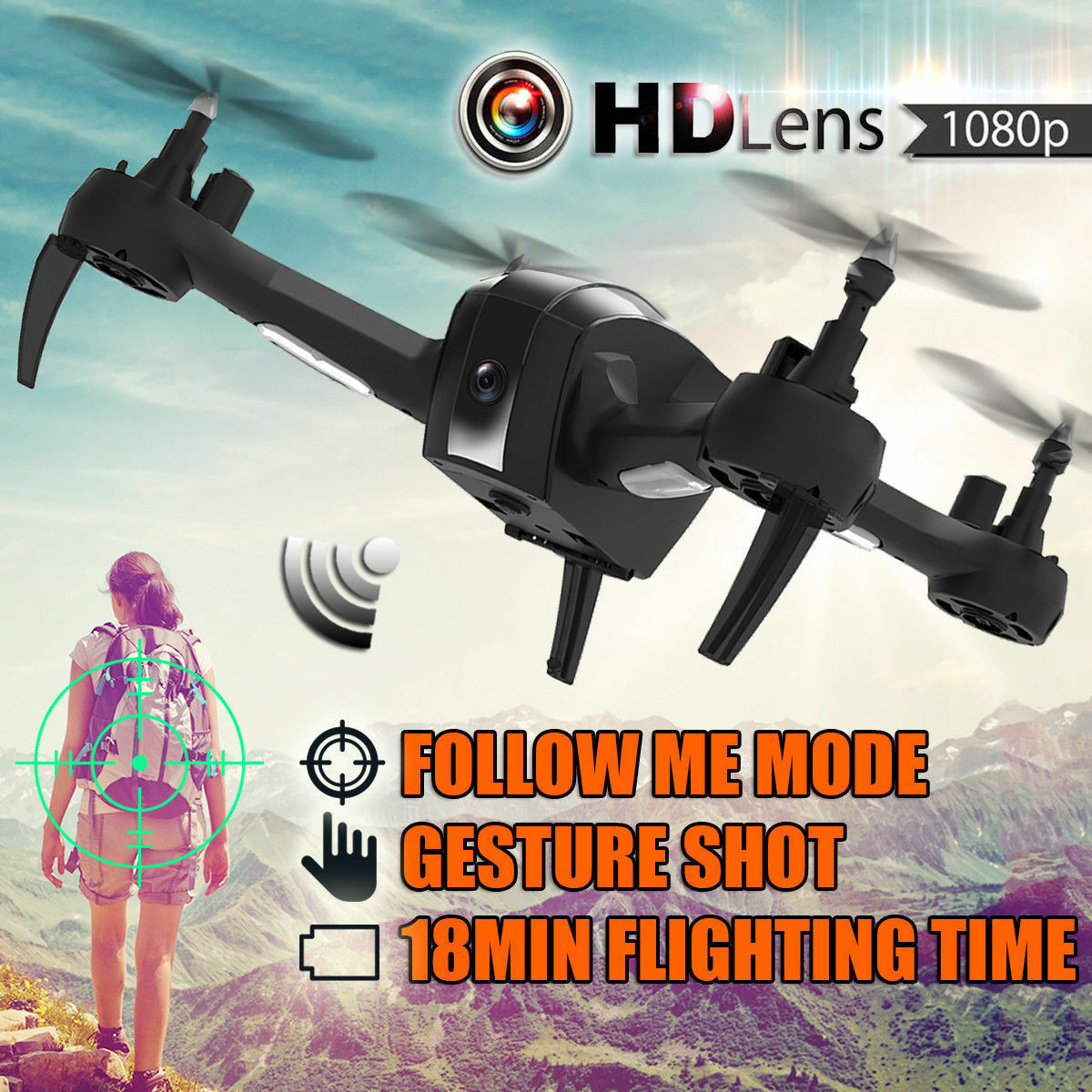 SH7 RC Drone With 1080P HD Camera 2.4GHz Remote Control Wifi FPV Altitude Hold❤v