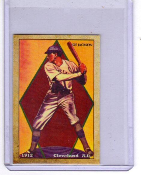 1912 Shoeless Joe Jackson, Cleveland Indians  limited edition Centennial reprint
