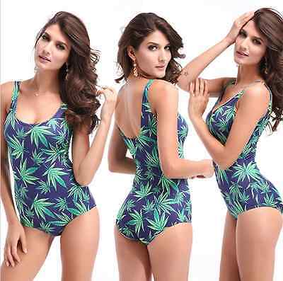 Secret Sinners Ganja Weed Leaf Cannabis Ladies Swimsuit Swimming Bikini Womens