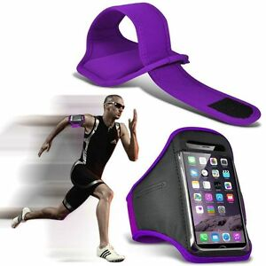 Quality-Sports-Armband-Gym-Running-Workout-Belt-Strap-Phone-Case-Cover-Purple