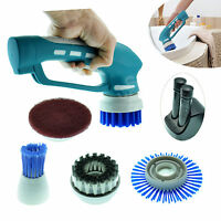 Us Stock Rechargeable Cordless Scrubber 4 Brushes Set For Kitchen Bath Cleaning