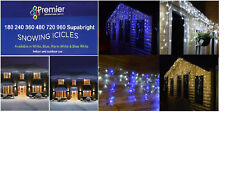 Premier 480 LED Snowing Icicles Christmas Lights LV081172W