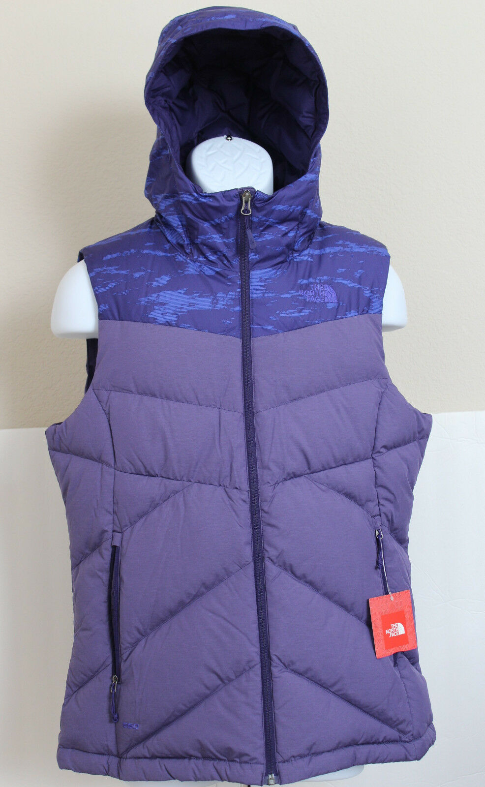 NWT THE NORTH FACE Womens Kailash Hooded 550 Down Vest Garnet Purple M