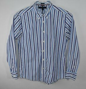 362f89b2 Image is loading TOMMY-HILFIGER-Mens-Long-Sleeve-Shirt-Button-Down-