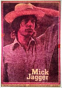 84b885b3859a Vintage 70s Mick Jagger Hot Peel Iron On Transfer Rock Rolling ...