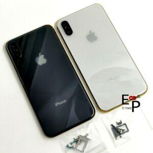 Marco-de-chasis-de-Vidrio-Trasero-Carcasa-Bateria-Tapa-De-Puerta-botones-para-Apple-iPhone-X