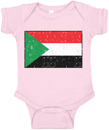Details about  /Sudan Flag Country Pride Game Day Falcons Of Jediane Soccer Team Infant Bodysuit