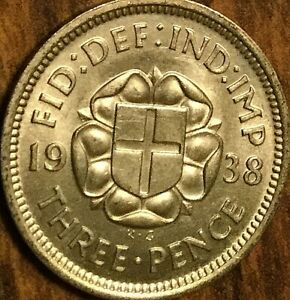 1938-UK-GREAT-BRITAIN-SILVER-THREEPENCE-UNCIRCULATED