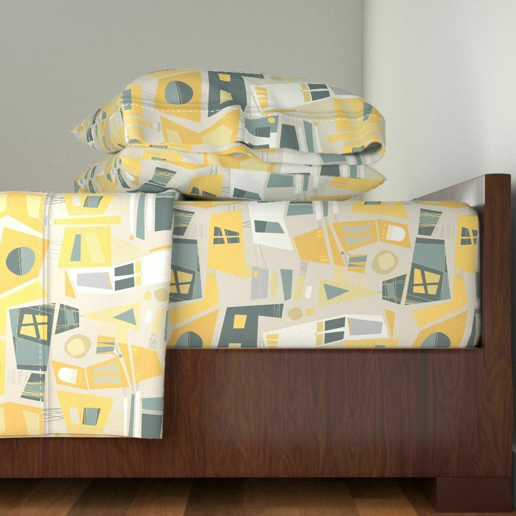 Window Pane Glass 100% Cotton Sateen Sheet Set by Roostery