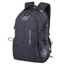 """Swiss Men Women 17"""" Laptop Notebook Backpack Computer Outdoor School Travel Bag"""