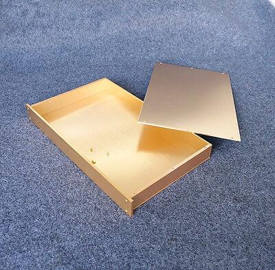 Blank Pre-Amplifier/Headphone Amp/DAC Chassis Gold Aluminum Enclosure DIY Case