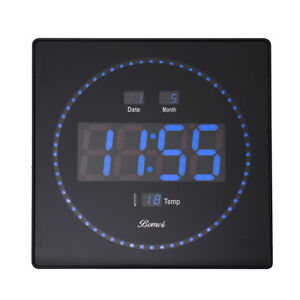 Wanduhr-LED-digital-Wanduhr-mit-Datum-Wartezimmeruhr-Buerouhr-gross-320x320mm-blau