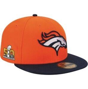 Official NFL Super Bowl 50 Superbowl Denver Broncos New Era 59FIFTY ... a5f9ba94fd0