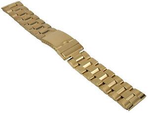 Acero-Inox-Pulsera-de-Reloj-Dorado-Cinta-Metal-con-Cierre-Desplegable-20-28mm-1