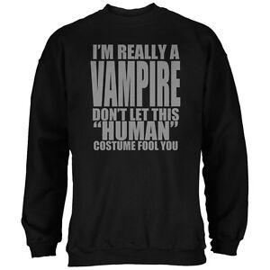 Vampire Halloween Black Costume Human Sweatshirt Adult 5B4qgZawB