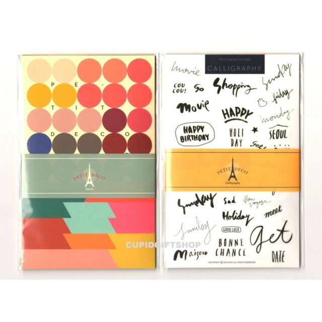 Petit Decor Sticker Calligraphy & Basic Diary Planner Book Scrapbook Label Index