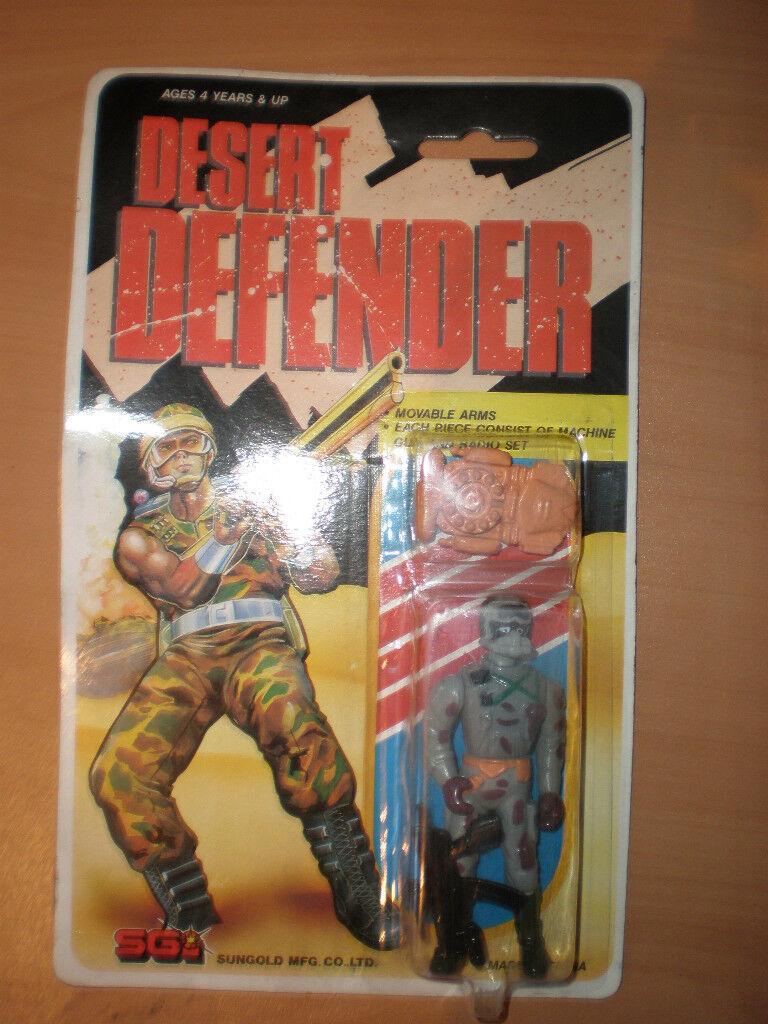 80'S JOE KO VINTAGE DESERT DEFENDER FIGURE SGI SUNGOLD MOC 3