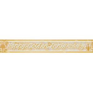 Boda-Dorada-50-Aniversario-Banner-de-Decoracion-de-Fiesta-Guirnalda-Brillante