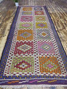 Anatolian-Turkish-Antalya-Kilim-Runner-39-3-034-x-103-5-034-Area-Rug-Runner-Carpet-Wool