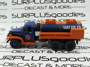 Johnny-Lightning-1-87-Scale-LOOSE-GULF-OIL-1940-039-s-GMC-CCKW-6X6-Gas-Tanker-Truck
