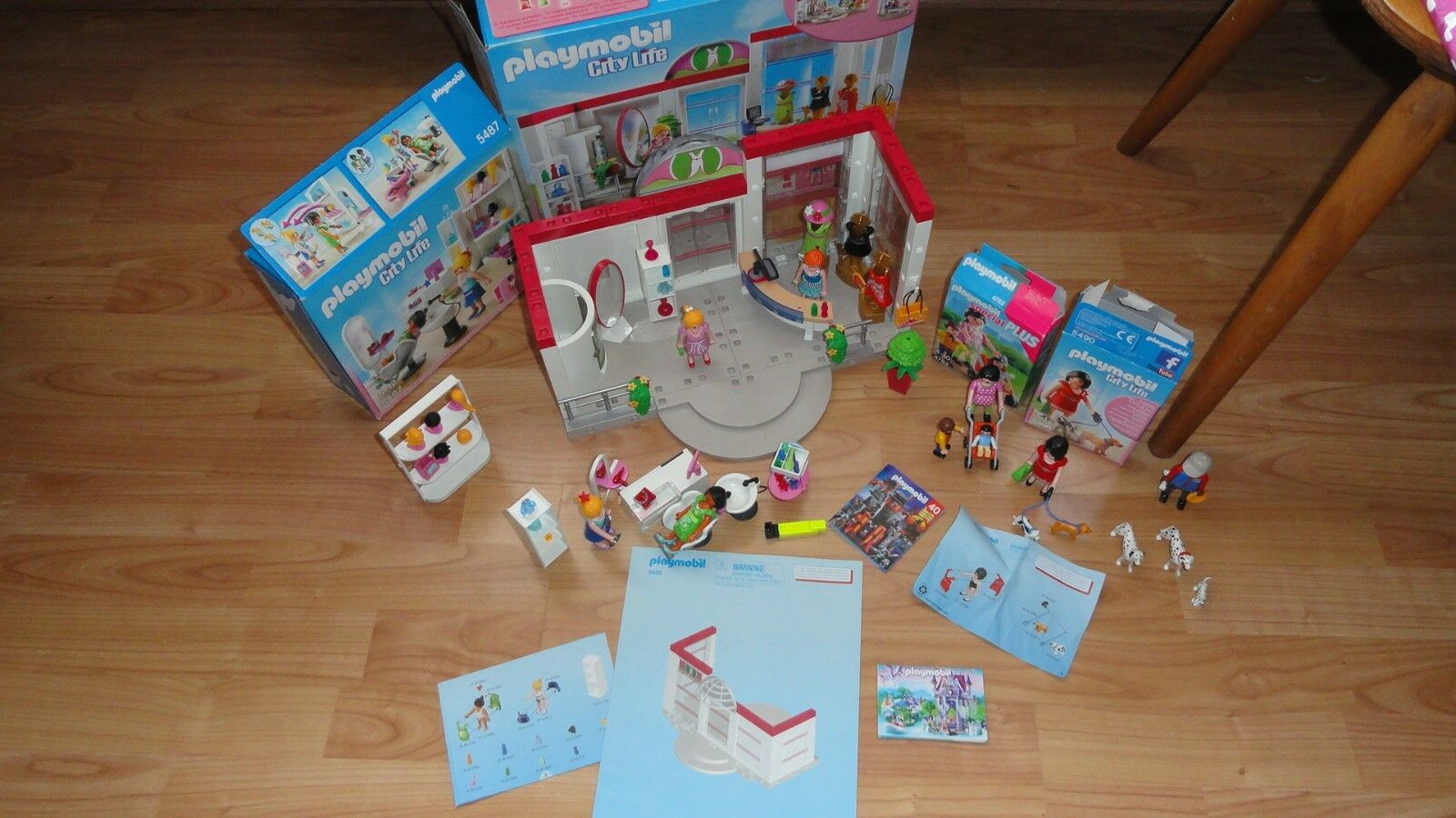 Playmobil City Life Modeboutique 5486 + 5487 + 5490 + 4782