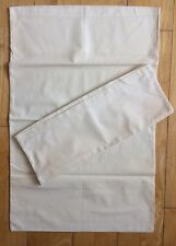 Vintage 1940s Housewife Pillowcases 1 Pair Crisp White Unused Dowry Linen