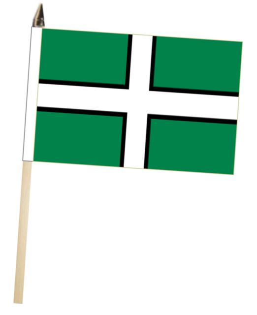 Green Large Hand Waving Courtesy Flag