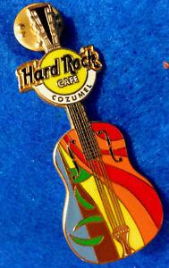 Raro-Cozumel-Mexico-Abstractas-Arcoiris-Diseno-Guitarra-Hard-Rock-Cafe-Pin-Le