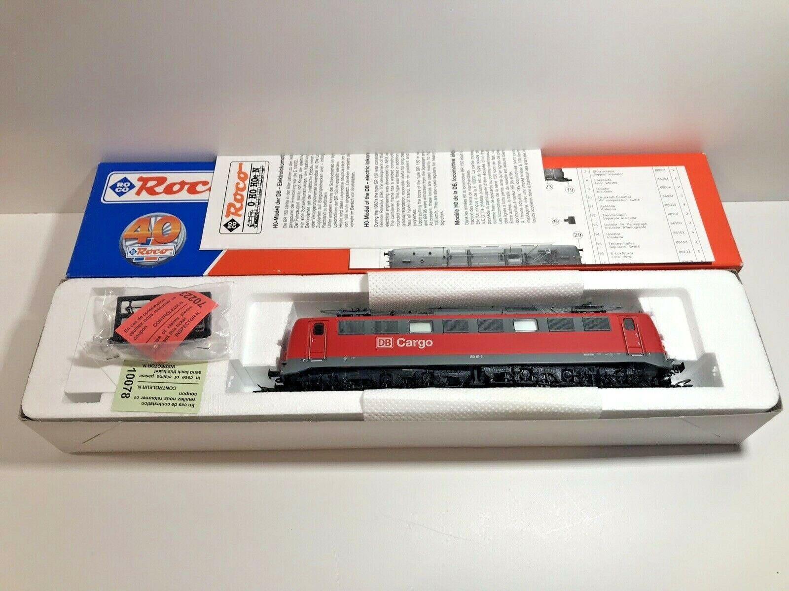 Roco 63710-cargo electric locomotive BR 150 111-3 DSS db oh, new condition