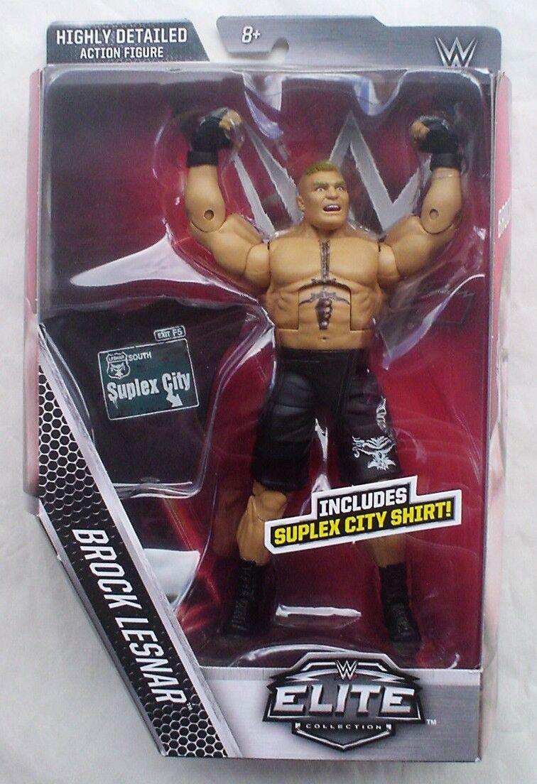 WWE Mattel figurine Accessoire Brock Lesnar suplex City T-shirt ELITE loose
