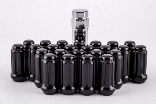 24 Piece Black Spline 14mm x 1.5 Locking Lug Nuts Chevy GMC Trucks 6 Lug Kit Set