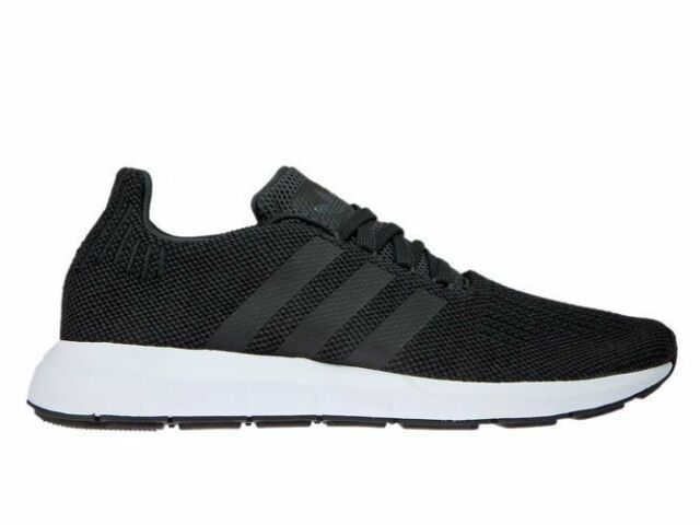 f215b93469cb9 adidas Originals Swift Run Carbon Black Men Running Shoes SNEAKERS ...