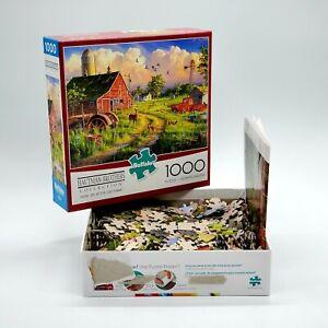 Buffalo-Hautman-Brothers-New-Life-At-The-Old-Farm-1000-PC-Jigsaw-Puzzle-11190