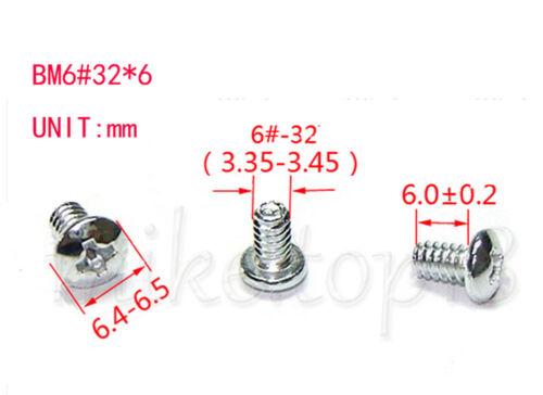 "100PCS 6#32*6 x 3//16/"" 6//32 x 6mm Screw for 3.5/"" HDD//ODD//PC Power"