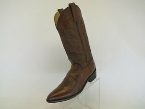 Dan-Post-Brown-All-Leather-Western-Cowboy-Boots-Mens-Size-9-5-D-Style-2111