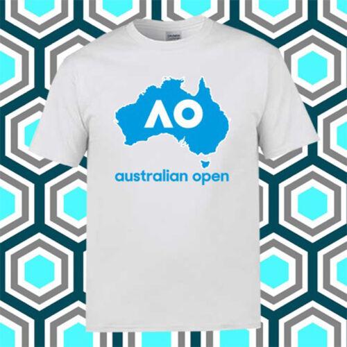 Australian Open AO Tennis Championship Men/'s White T-Shirt Size S M L XL 2XL 3XL