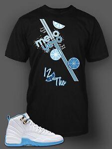 1e5e03e2 Tee Shirt to Match Jordan 12 Melo Shoe Men Short Sleeve Pro Club ...