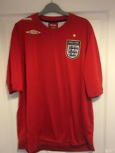 32aaaa25bda 2006 2007 England away football shirt Umbro XL men s extra large ...