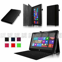 Black Pu Leather Case Cover For Microsoft Windows Surface Rt 2 Tablet 10.6
