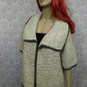 Ann-Taylor-Loft-Chunky-Knit-Open-Cardigan-Womens-XL-Wool-Mohair-Alpaca-Blend