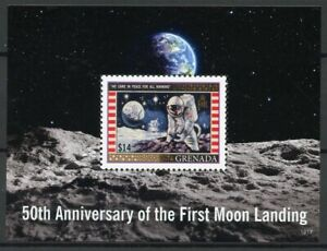 Grenada-Stamps-2019-MNH-Moon-Landing-Apollo-11-50th-Anniv-Space-1v-S-S