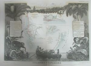 AFRIQUE-SENEGAMBIE-ILE-MALGACHE-MADAGASCAR-CARTE-LEVASSEUR-GRAVURE-ATLAS-1852
