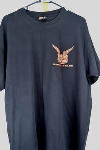 Big-Johnson-Motorcycles-Black-Orange-Xl-Graphic-Tee-Men-039-s-Shirt