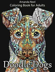 Image Is Loading Doodle Dogs Coloring Book For Adults By Amanda