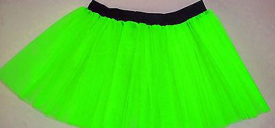 Plus Size Uv Neon Green Tutu Skirt Dance Rave Causal Fancy Clubwear halloween