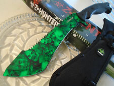 Z-Hunter Green Zombie Combat Sawback Kukri Bowie Machete Knife Full Tang 113GN