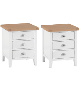 Image Is Loading Pair Of Canterbury White Painted Extra Large Bedside