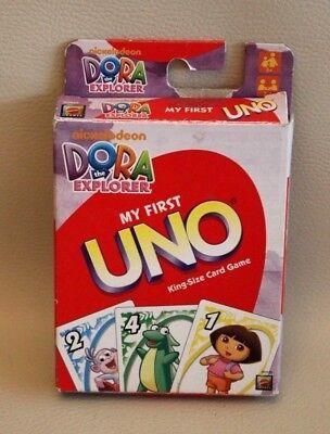 Qualità Al 100% Jeu De Cartes My First Uno / Mon Premier Uno - Cartes Géantes - Dora - Complet
