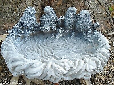 NEW latex /plastic backup 4 birds small birdbath mold plaster concrete